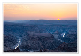 Poster  Fish River Canyon at sunset, travel destination in Namibia - Fabio Lamanna