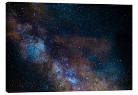 Tableau sur toile  The Milky Way galaxy, details of the colorful core. - Fabio Lamanna
