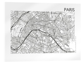Verre acrylique  Carte de Paris - 44spaces