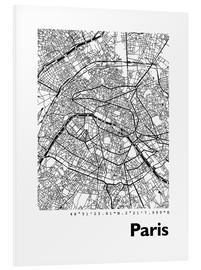 Tableau en PVC  Plan de la ville de Paris - 44spaces