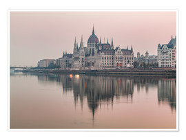 Poster  Colourful sunrises in Budapest - Mike Clegg Photography