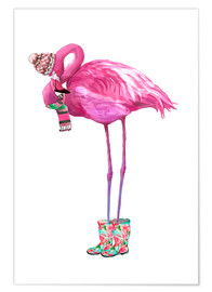 Kidz Collection - Pink flamingo with rubber boots