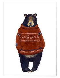 Poster  Mr Ours et son pull en laine - Kidz Collection