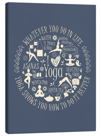 Toile  Yoga - my world II