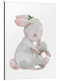 Alu-Dibond  Maman lapin et son petit - Kidz Collection