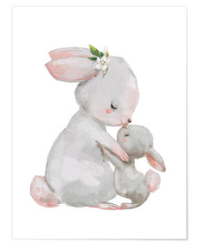Poster  Maman lapin et son petit - Kidz Collection