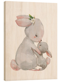 Kidz Collection - Cute white bunnies - mother with child