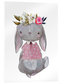 Verre acrylique  Summer bunny with flowers in her hair - Kidz Collection