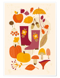 Poster  autumn days - Kidz Collection
