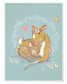 Poster  Biche et son faon - Kidz Collection