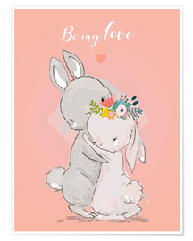 Poster Be my love bunny