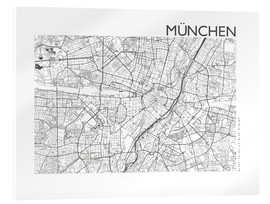 Verre acrylique  Plan de la ville de Munich - 44spaces