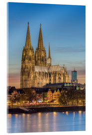 Verre acrylique  The Cologne Cathedral in the evening - Michael Valjak