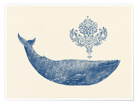 Poster  Une baleine de Damas - Terry Fan
