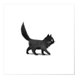 Poster  Petit chat noir - Terry Fan