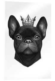 Verre acrylique  Queen French bulldog - Valeriya Korenkova