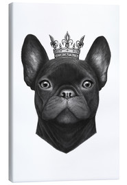 Toile  Queen French bulldog - Valeriya Korenkova