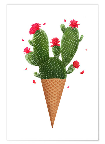 Poster Glace cactus