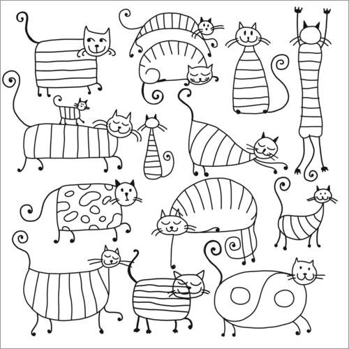 Coloriage Chat Raye.Posters Et Tableaux De Chats Rayes Posterlounge Fr