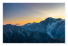 Poster  Monte Bianco or Mont Blanc at sunrise, italian side - Fabio Lamanna