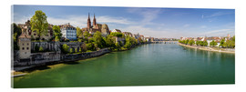 Verre acrylique  Panorama Basel old town on the Rhine (Switzerland) - Christian Müringer