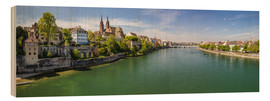 Bois  Panorama Basel old town on the Rhine (Switzerland) - Christian Müringer