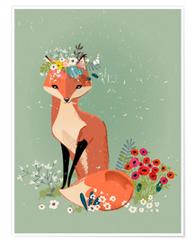 Poster  Renard au printemps - Kidz Collection