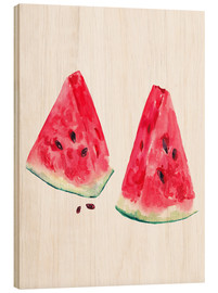 Bois  watercolor slices of watermelon