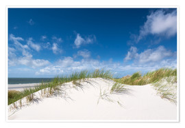 Poster  White dunes in gentle summer breeze - Reiner Würz RWFotoArt