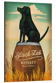 Tableau en aluminium  Whisky Black Lab - Ryan Fowler