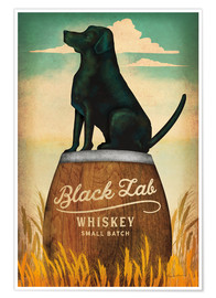 Poster  Whisky Black Lab - Ryan Fowler