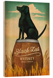 Tableau en bois  Whisky Black Lab - Ryan Fowler