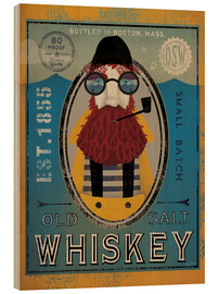 Tableau en bois  Old Salt Whiskey - Ryan Fowler