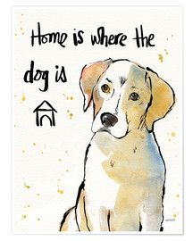 Poster  Home is where the dog is (anglais) - Anne Tavoletti