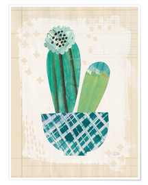 Poster Collage de cactus II