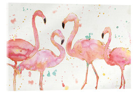 Verre acrylique  Flamants roses I - Anne Tavoletti