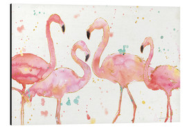 Tableau en aluminium  Flamants roses I - Anne Tavoletti