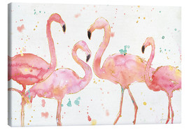 Toile  Flamants roses I - Anne Tavoletti
