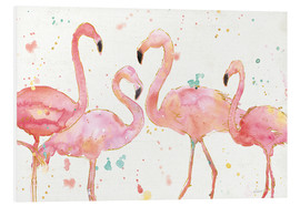 Tableau en PVC  Flamants roses I - Anne Tavoletti