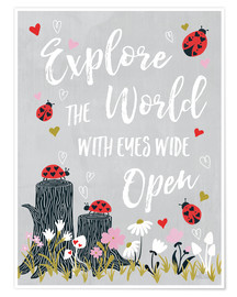 Poster  Explore the world - Laura Marshall