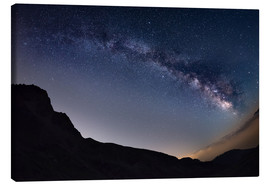 Tableau sur toile  Milky Way arch and starry sky at high altitude in summertime on the Alps - Fabio Lamanna