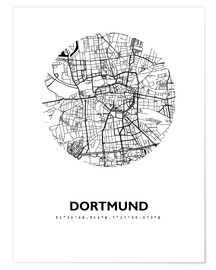 Poster  Plan de la ville de Dortmund - 44spaces