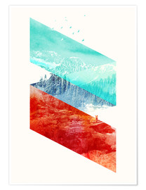 Poster  Mountain Stripes - Robert Farkas