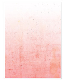 Poster pink ombre