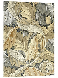Tableau en verre acrylique  Acanthe - William Morris