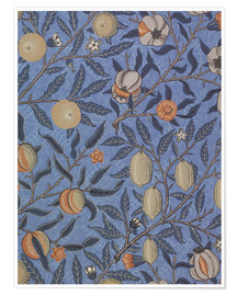 Poster  Fruits bleus ou grenades - William Morris