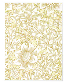 Poster  Tournesol - William Morris