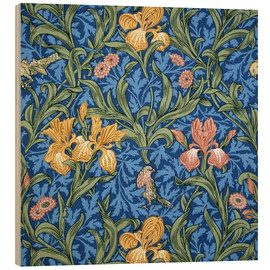 Tableau en bois  Iris - William Morris