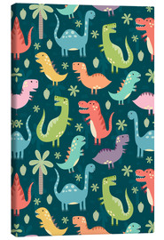 Toile  Colorful dinosaurs - Kidz Collection