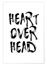 Poster Heart over head
